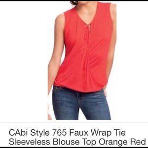 CABI Top Medium Solid Pink Knit Sleeveless 765